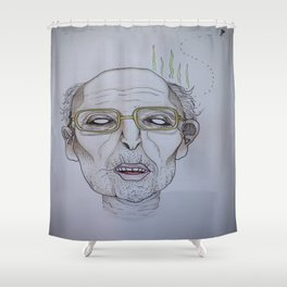 """""""He swims with the fishes"""" -The Godfather Shower Curtain"""