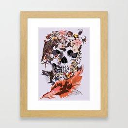 Birds, butterfly and Sugar Skull Framed Art Print
