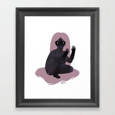 Space Girl 5 Framed Art Print