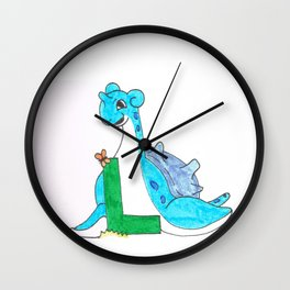 L is for lapras Wall Clock