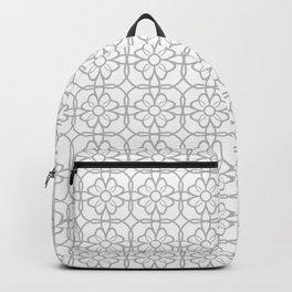 Grey Flourish Pattern Backpack
