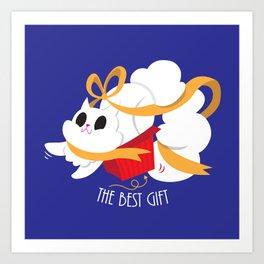 Best gift for a cat - a box! Art Print