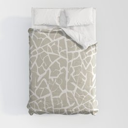 Crackle in Stone and White Comforters