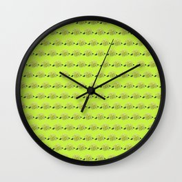 green hydrangeas Wall Clock