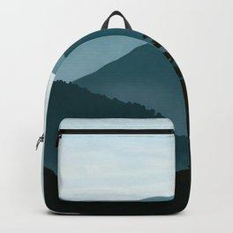Blue Landscape Mountains Backpack
