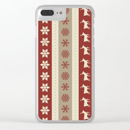 Christmas Pattern #1 Clear iPhone Case