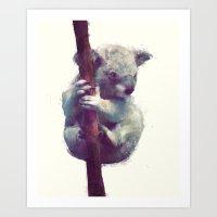 koala Art Prints featuring Koala by Amy Hamilton