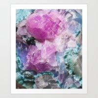 Cotton Candy Rock Crystal Art Print