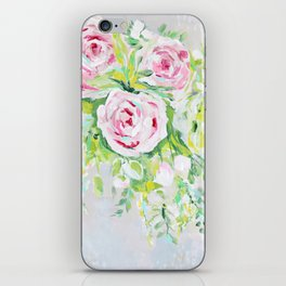 Pink rose floral bouquet iPhone Skin