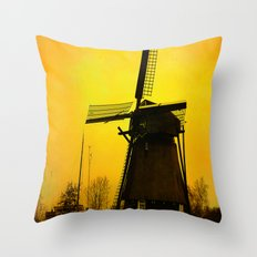 Dutch Windmill Throw Pillow