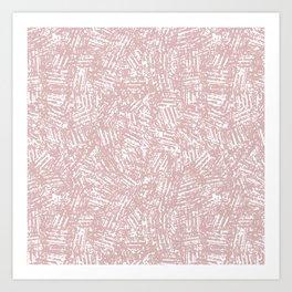 crisscross-pink Art Print