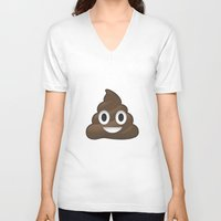 poop V-neck T-shirts featuring Whatsapp - Poop by swiftstore
