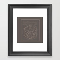 D20-Critical Hit Framed Art Print