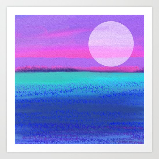By the light of the silvery moon Art Print
