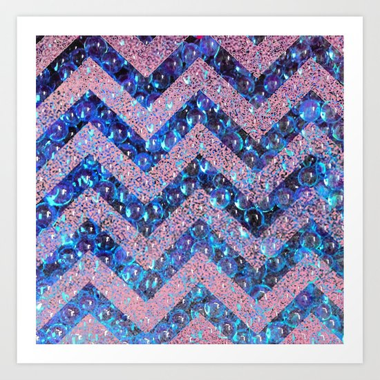 bubbly chevron Art Print