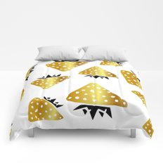 strawberry gold Comforters