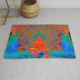 Cool Water Zen (Ultraviolet) (psychedelic, meditation) Rug