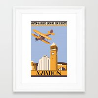 aviation Framed Art Prints featuring Aviation by Pixel & Pint