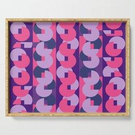 Geometric Circular Pink Modern Pattern Serving Tray