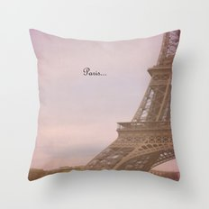 Paris... Throw Pillow