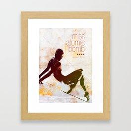 Miss Atomic Bomb. V2 Framed Art Print