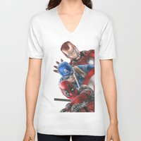 heroes V-neck T-shirts featuring Heroes  by Molly Thomas