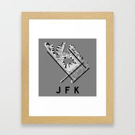 JFK Airport Diagram Framed Art Print