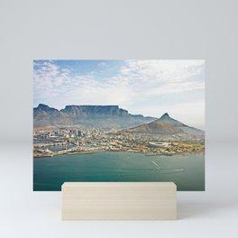 Cape Town aerial view Mini Art Print
