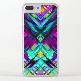 Colorful digital art splashing G472 Clear iPhone Case