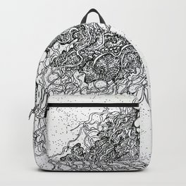 Jellyfish drawing Backpack