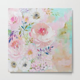 Acrylic rose garden  Metal Print