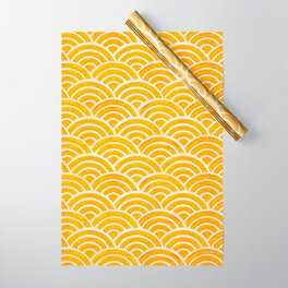Japanese Seigaiha Wave – Marigold Palette Wrapping Paper