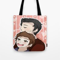 sterek Tote Bags featuring Sterek #2 by liloloveyou024