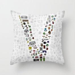 letter V - Nintendo Classics Throw Pillow