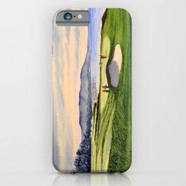 Pebble Beach Golf Course 9th Green iPhone Case
