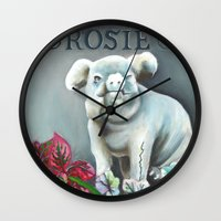 "haunted mansion Wall Clocks featuring Disneyland Haunted Mansion inspired ""Rosie""  by ArtisticAtrocities"