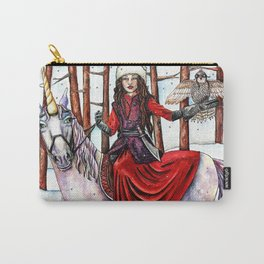 Winter Warrior by DeeDee Draz Carry-All Pouch
