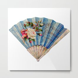 Fan Fancy (blue)   Metal Print