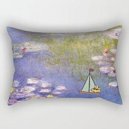 Snoopy meets Monet Rectangular Pillow