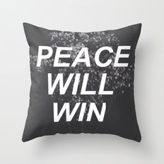 peace will win -- dark flowers -- dark grid -- twenty one pilots Throw Pillow