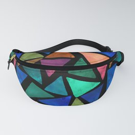 Cheerful triangles Fanny Pack