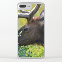 Elk like flowers too Clear iPhone Case