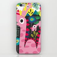 dino iPhone & iPod Skins featuring Dino by Marijke Buurlage