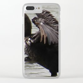 Cormorant at Jensen Nature Reserve Clear iPhone Case