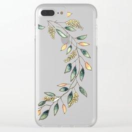 Wattle Wreath Clear iPhone Case