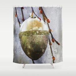 Golden easter egg Shower Curtain