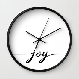 joy calligraphy line Wall Clock