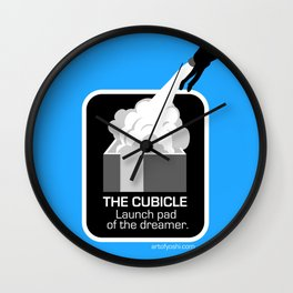 THE CUBICLE: Launch Pad of the Dreamer Wall Clock