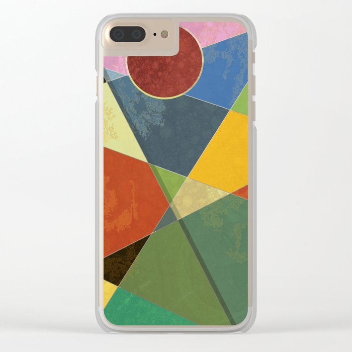 Abstract #326 Clear iPhone Case