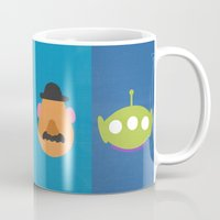 toy story Mugs featuring Toy Story by Raquel Segal